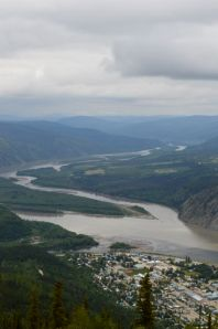 View overlooking Dawson City from Midnight Dome.